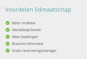 Voordelen lidmaatschap Bed and Breakfast