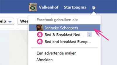 Facebook pagina voor je bed & breakfast