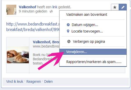 hoe zet je een kaart op facebook