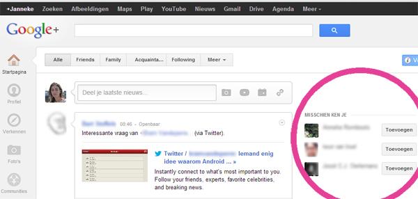 Jouw B&B op Google+