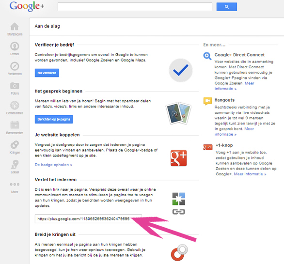 B&B Google+