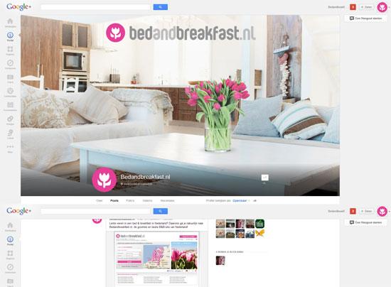 Bedandbreakfast.nl op Google+