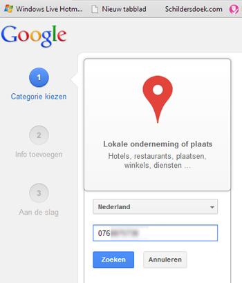 Google + pagina bed & breakfast