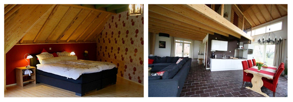 Slaapkamer Woerden : De slaapkamer en woonkamer van Bed & Breakfast ...