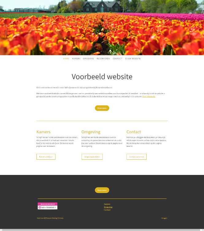 Jimdo voorbeeld website