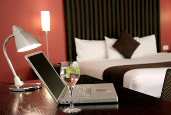 Business traveler in a B&B
