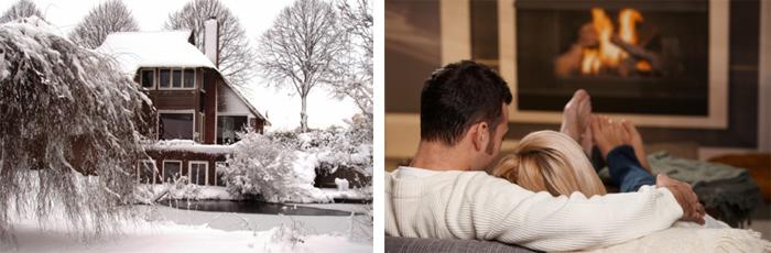Winter romantiek in een bed breakfast met open haard for Weekendje weg huisje open haard
