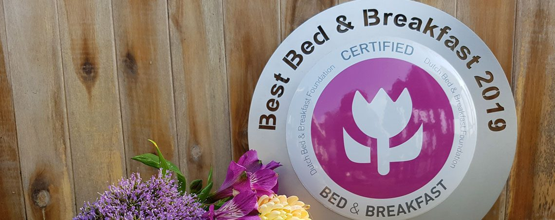 Bedandbreakfast.nl; Nominaties Beste Bed and Breakfast van Nederland 2019