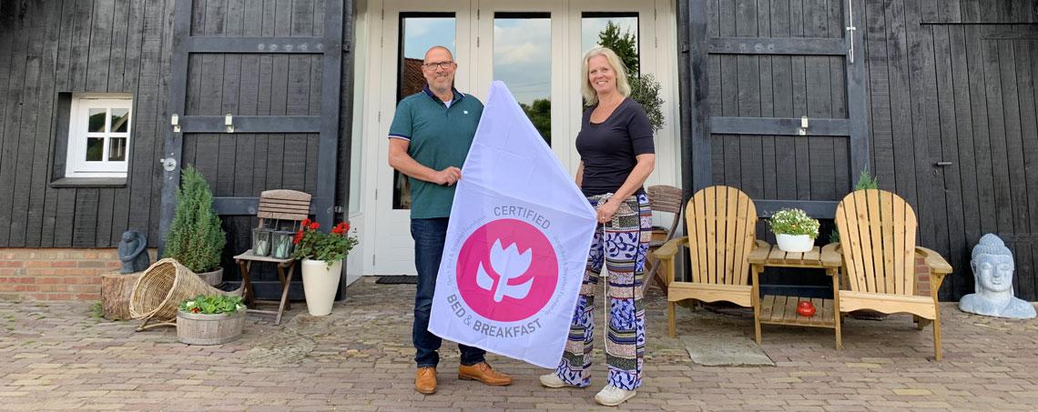 Bedandbreakfast.nl; Nieuwe Geclassificeerde B&B's met roze tulpen