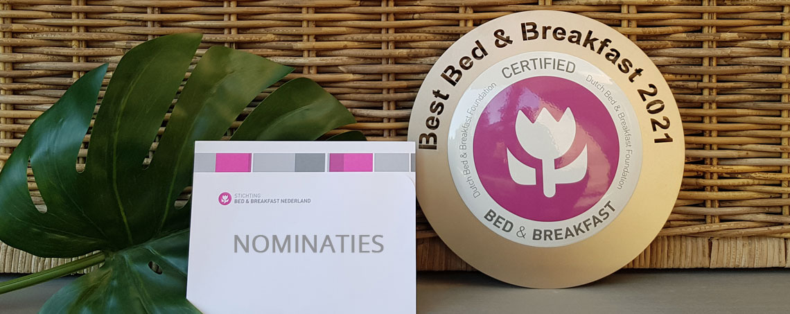 Bedandbreakfast.nl; Beste Bed and Breakfast van Nederland 2021